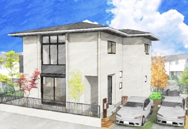 熊本市西区松尾1丁目 新築一戸建て 3号地モデルハウス 外観