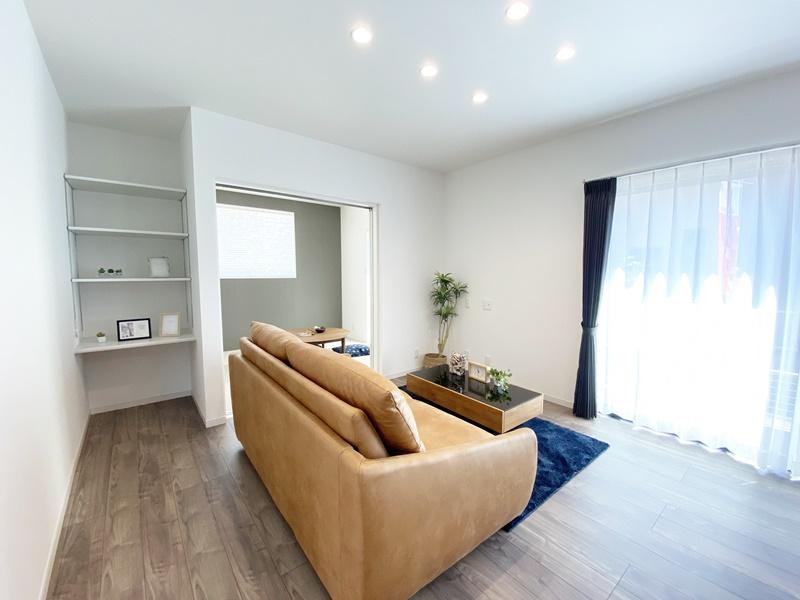 熊本市西区松尾1丁目 新築一戸建て 1号地モデルハウス リビング