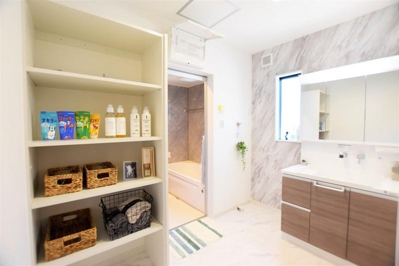 熊本市西区松尾1丁目 新築一戸建て 1号地モデルハウス 洗面脱衣室