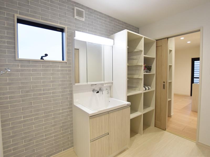 大津町大津 新築一戸建て 1号地モデルハウス 洗面脱衣室