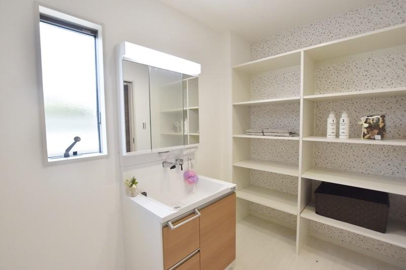 熊本市東区八反田3丁目 トレステージ託麻西小学校前Ⅳ3号地モデルハウス 洗面脱衣室