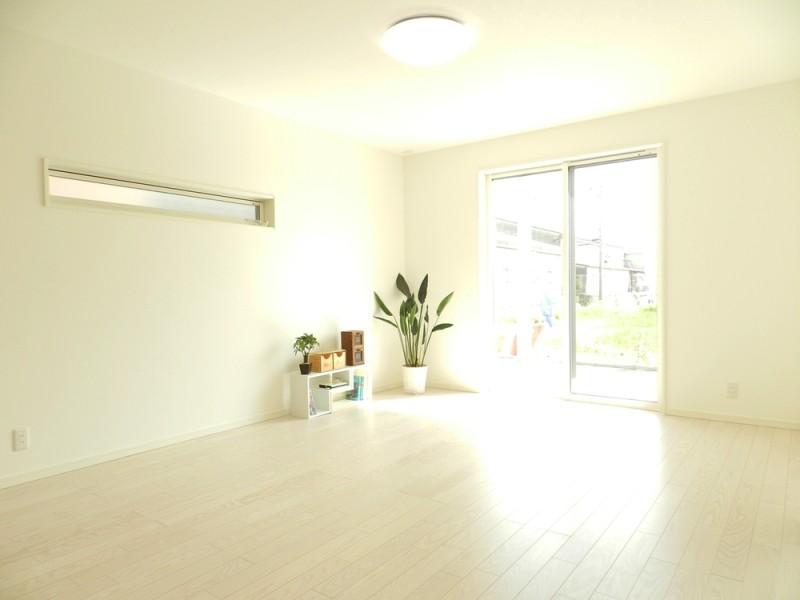 3号地リビング:LDKと和室と繋げると、23.8帖と広々空間になります。