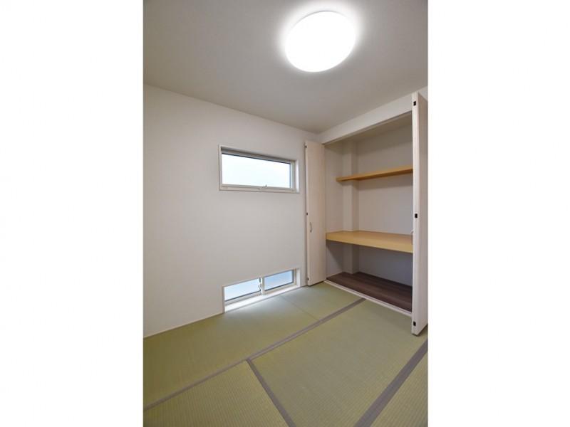 4号地:和室は大容量の収納付きで安心です