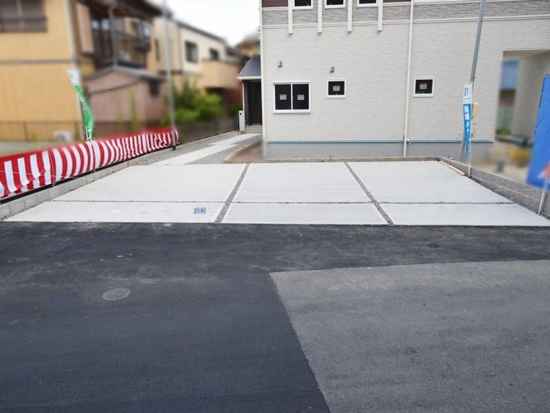2号地駐車場:5台駐車可能です。