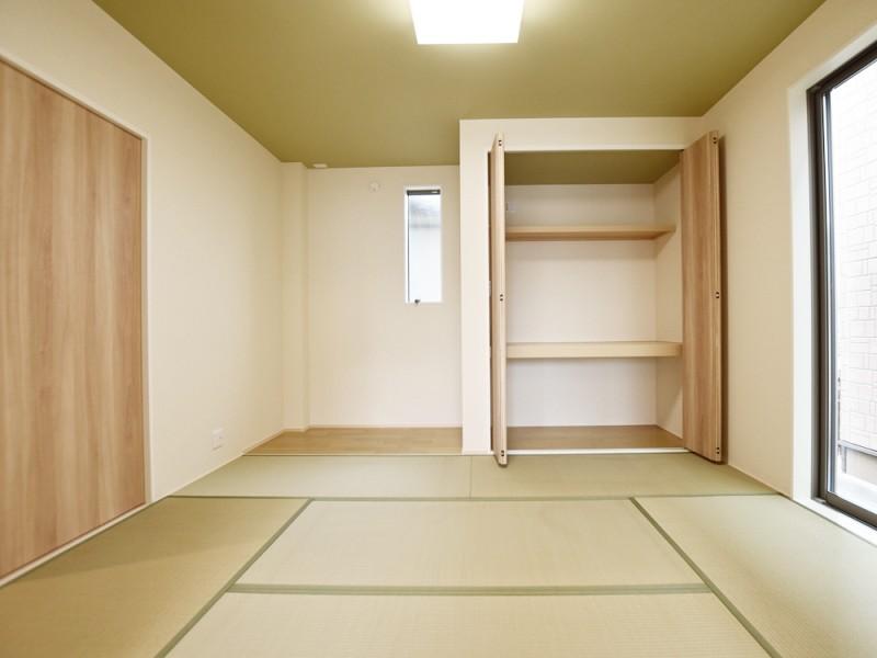 3号地和室:7帖と広々とした和室。リビングからも廊下からも出入り可能です。