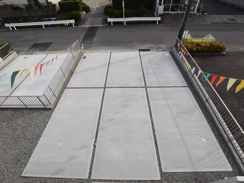 1号地 広々とした駐車スペースは6台駐車可能!