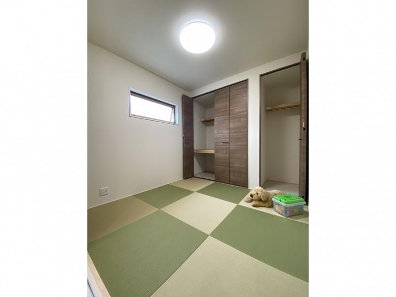 2号地 ベージュと緑を掛け合わせた、遊び心のある和室です!