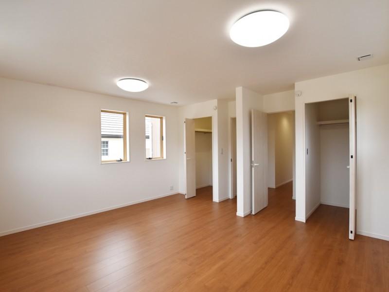 洋室は将来的に分けることもできるように設計しました